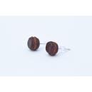 Boucles d'oreille Macaron Choco - Caramel   Chez Laurette   Macarons   Fait main