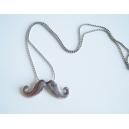 Collier comme un garçon | moustache | Chez Laurette