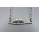 Le baiser des oiseaux (argent) | collier | bijoux vintage | oiseaux | oiseau [ montreal | fait main | chez laurette