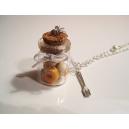 Fiole de Donuts à la Citrouille, chez laurette, bijoux gourmand, pate polymere, fimo, donuts, collier, fait main, halloween