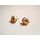 Donuts à la Citrouille, bijoux gourmand, pate polymere, fimo, donuts, puces d'oreille, boucles d'oreille, halloween fait main
