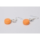 Boucles d&#039;oreille Macaron Melon - Coco | Chez Laurette | Macarons | Fait main