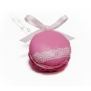 Macaron - Rose glac&eacute;e &amp; Dentelle