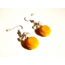 Macaron Citron - Coco, chez laurette, bo, boucles d&#039;oreilles, gourmand