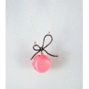 Mini Macaron, bijoux gourmand, pate polymere, fimo, macaron, collier, fait main, chez laurette