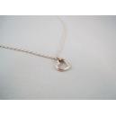 Mini coeur, chez laurette, bijoux vintage, metal, coeur, collier, collier court