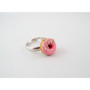 Donut rose sucré (Petite taille seulement)