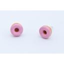 Boucles d'oreille Donuts fraise   Chez Laurette   Donuts   Fait main