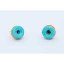 Boucles d'oreille Donuts menthe   Chez Laurette   Donuts   Fait main