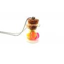 Fiole de Macarons Flash, bijoux gourmand, pate polymere, fimo, macaron, collier, fait main