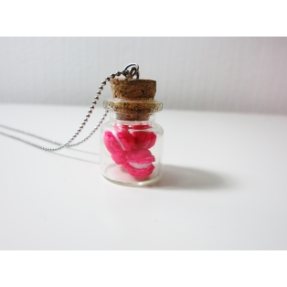 Fiole de Macarons Rose Flash