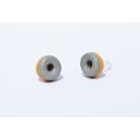Boucles d'oreille Donuts réglisse   Chez Laurette   Donuts   Fait main