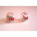 Boules de Noël | Puces, bijoux gourmands, pate polymere, fimo, noel, puces d'oreille, boucle d'oreille, fait main