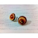 Crêpes au Sirop d'érable, bijoux gourmand, pate polymere, fimo, sirop d'érable, boucle d'oreille, chez laurette