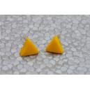 Triangle Jaune | Puces, chez laurette polymere fait main montreal triangle