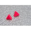 Triangle Rose flash | Puces, Boucle d'oreille polymere rose fimo montreal chez laurette