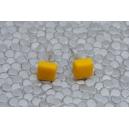Carré Jaune | Puces, chez laurette polymere fait main montreal carré