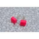 Carré Rose flash | Puces, chez laurette polymere fait main montreal carré