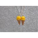 Cornets Jaune | Boucles d'oreilles,boucles d'oreille, cornet, chez laurette, artisanat, artisan, fait main, montreal