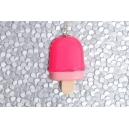 Pospicle Rose chez laurette fait main artisanat glace popsicle fimo montreal