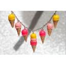 Cascade de cornets | Collier, chez laurette fait main artisanat glace fimo montreal