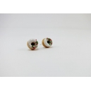 Donuts de Noël - Blanc, bijoux gourmand, polymere, fimo, donuts, puces, hiver,fait main