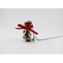Maxi Fiole de Beignes de Noël,bijoux gourmand, pate polymere, fimo, beigne, donuts, collier, fait main