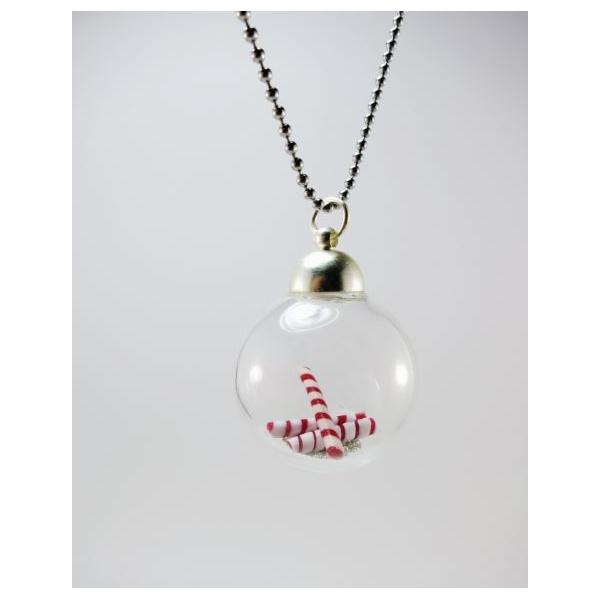 collier noel Boule de Noël | Collier collier noel