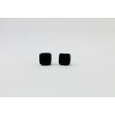 Carré Noir | Puces, chez laurette polymere fait main montreal carré