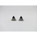 Triangle Argent et Noir | Puces, chez laurette polymere fait main montreal triangle