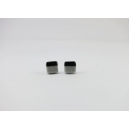 Carré Argent et Noir | Puces, chez laurette polymere fait main montreal carré