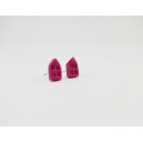Petite Maison - Rose foncé | Puces, chez laurette polymere fait main montreal maison
