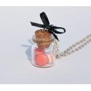 Fiole de Macarons Groseille - Coco