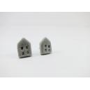 Petite Maison - Argent | Puces, chez laurette polymere fait main montreal maison