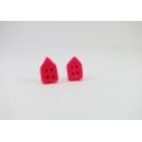 Petite Maison - Rose flash| Puces, chez laurette polymere fait main montreal maison