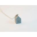 Petite Maison - Argent | Collier, chez laurette polymere fait main montreal maison collier