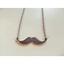 moustache - argentée, chez laurette, bijoux, montreal