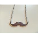 moustache - argentée