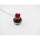 Collier - Cupcake St Valentin