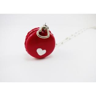 Collier sautoir, Macaron St Valentin
