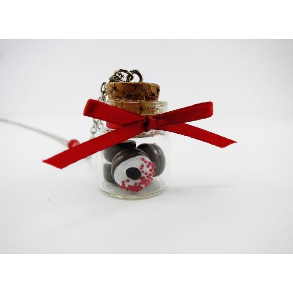 collier fiole de donuts st valentin chez laurette. Black Bedroom Furniture Sets. Home Design Ideas