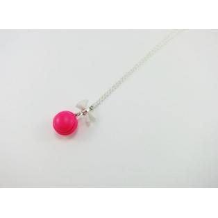 Collier - Macaron rose flash | MINI |