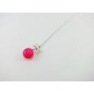 Collier - Macaron rose flash   ENFANT  