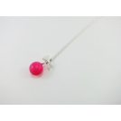 Collier - Macaron rose flash | MINI |
