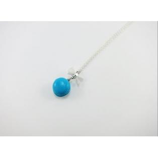 Collier - Macaron bleu   MINI  