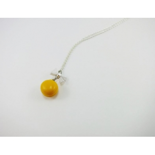 Collier - Macaron jaune   MINI  