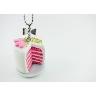 Valentine, Oh Valentine | Collier - Gâteau à étage rose / or