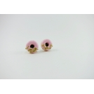 Valentine, Oh Valentine | Puces d'oreille clou Donuts - Rose / Or