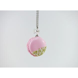 Valentine, Oh Valentine | Collier sautoir Macaron Rose et Or