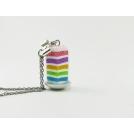 Collier - Part de Rainbow Cake | MINI